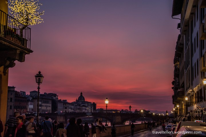 Sunset by River Arno