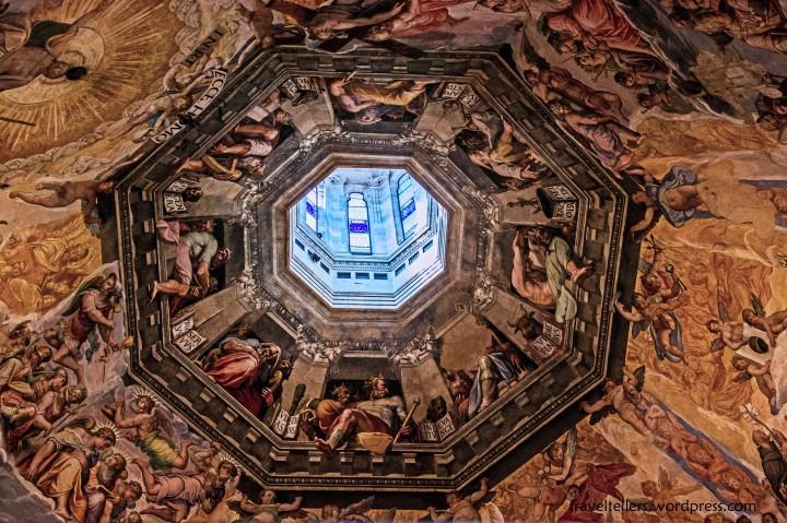Vasari's fresco of Last Judgement under the dome