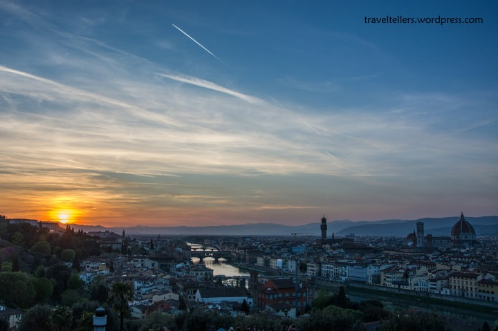 Sunset at Piazzale Michelangelo
