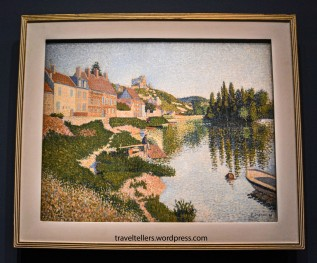 The riverbank (Les Andelys) by Paul Signac