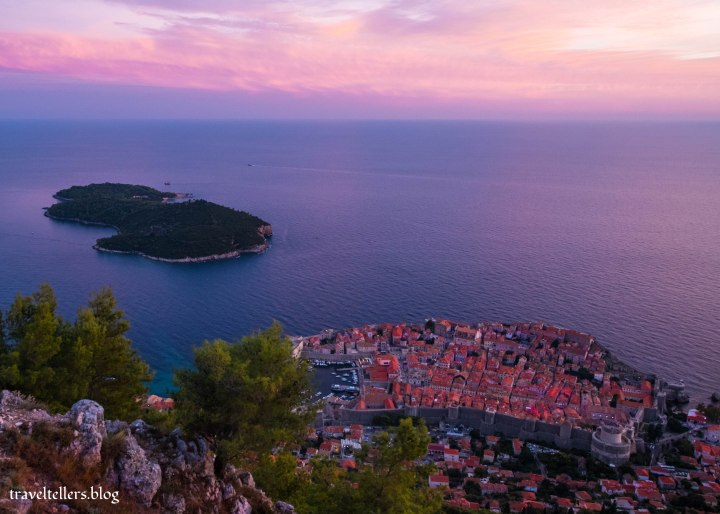 Dubrovnik Sunset from Mt SRD