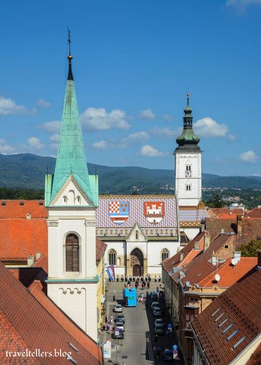 View from  LotrščakTower, Zagreb